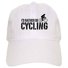 I'd Rather Be Cycling (Female) Baseball Cap