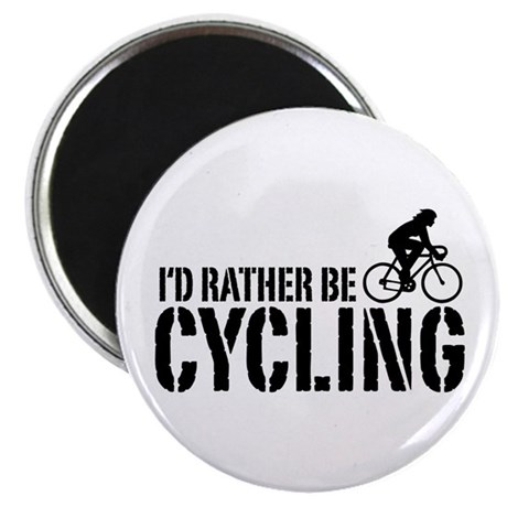 I'd Rather Be Cycling (Female) Magnet