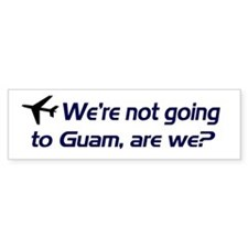 Not Guam Bumper Car Sticker