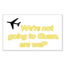 Not Guam Rectangle Decal