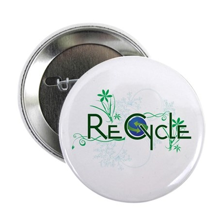 "recycle 2.25"" Button (10 pack)"