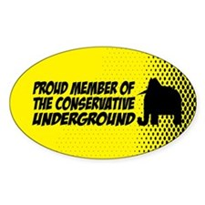 Proud member of the Conservat Oval Sticker (10 pk)