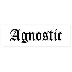 Agnostic Bumper Sticker (10 pk)