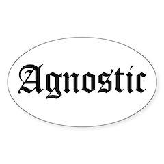 Agnostic Oval Decal