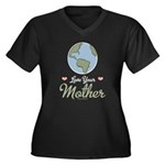 Love Your Mother Earth Women's Plus Size V-Neck Da