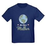 Love Your Mother Earth Kids Dark T-Shirt