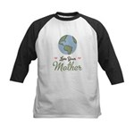 Love Your Mother Earth Kids Baseball Jersey