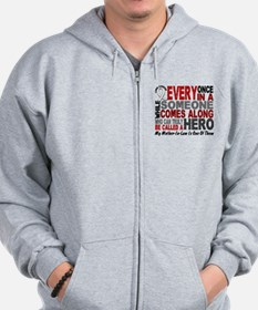 HERO Comes Along 1 Mother-In-Law LUNG CANCER Zip Hoodie