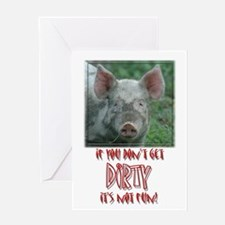 Piglet Rugby Greeting Card