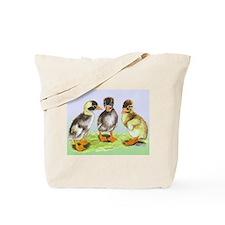 Runner Duck Ducklings Tote Bag