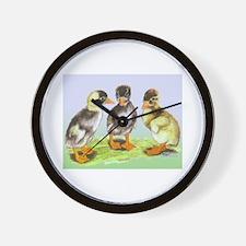 Runner Duck Ducklings Wall Clock