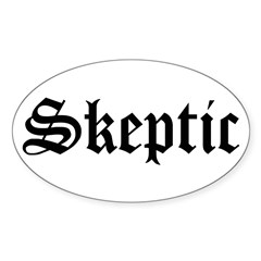 Skeptic Oval Sticker (10 pk)