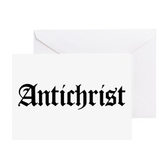 Antichrist Greeting Card