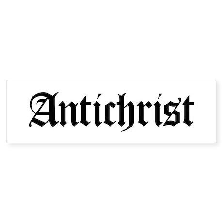 Antichrist Bumper Sticker