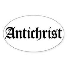 Antichrist Oval Decal