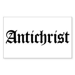 Antichrist Rectangle Decal