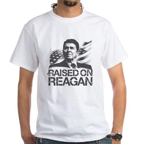 Raised on Reagan White T-Shirt