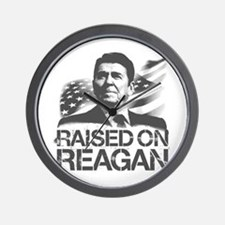 Raised on Reagan Wall Clock