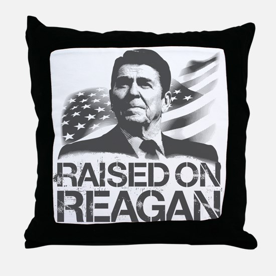Raised on Reagan Throw Pillow