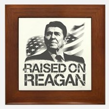 Raised on Reagan Framed Tile