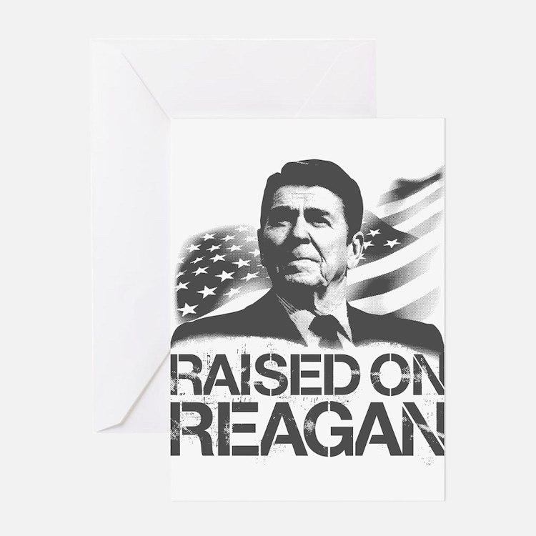 Raised on Reagan Greeting Card