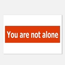 You Are Not Alone Postcards (Package of 8)