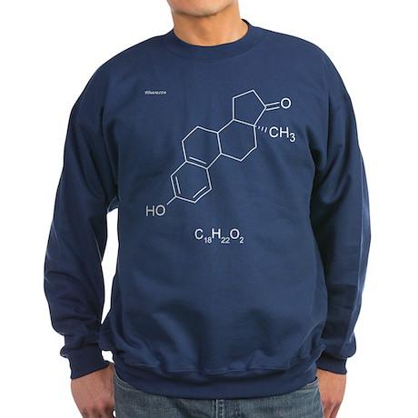 Estrogen Molecule - Sweatshirt (dark)