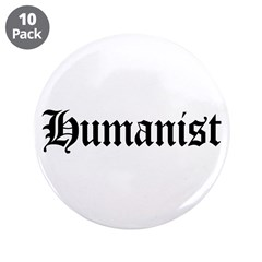 """Humanist 3.5"""" Button (10 pack)"""