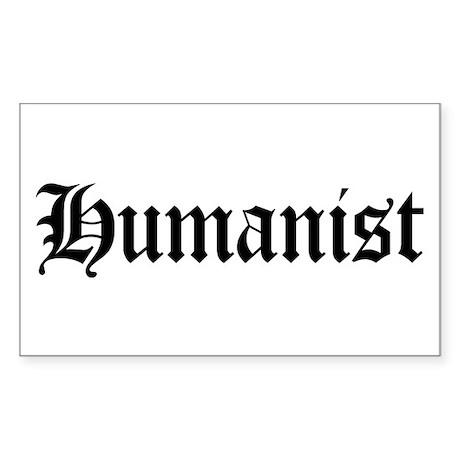 Humanist Rectangle Sticker