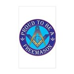 Masonic Pride Rectangle Sticker