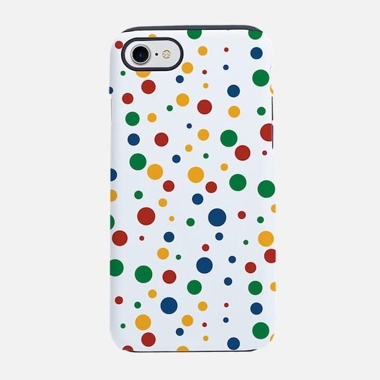 Retro Clowny Dot Pattern iPhone 7 Tough Case