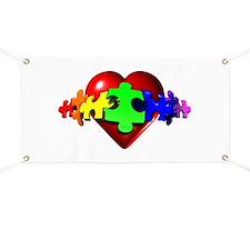 3D Heart Puzzle Banner