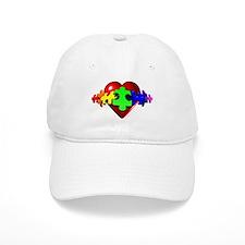 3D Heart Puzzle Baseball Cap