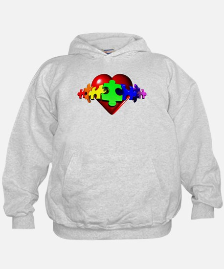 3D Heart Puzzle Hoody