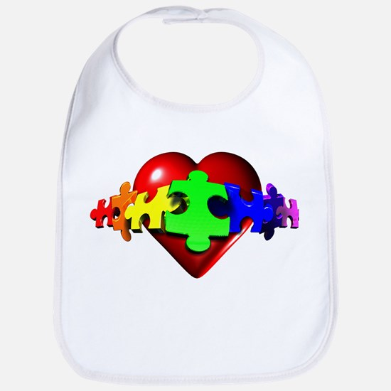 3D Heart Puzzle Bib