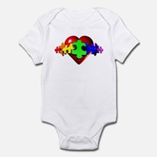 3D Heart Puzzle Infant Bodysuit