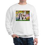 Garden / 2 Bearded Collie Sweatshirt