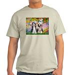 Garden / 2 Bearded Collie Light T-Shirt