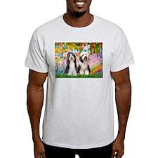 Garden / 2 Bearded Collie T-Shirt