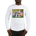 Garden / 2 Bearded Collie Long Sleeve T-Shirt