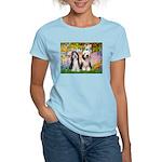 Garden / 2 Bearded Collie Women's Light T-Shirt