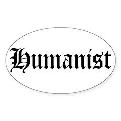 Humanist Oval Sticker (10 pk)
