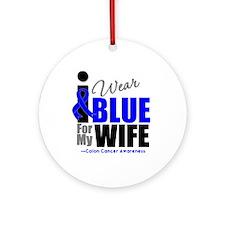 IWearBlue Wife Ornament (Round)