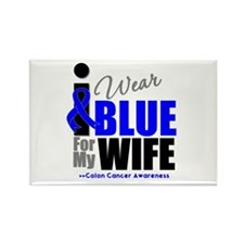IWearBlue Wife Rectangle Magnet