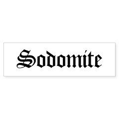 Sodomite Bumper Bumper Sticker