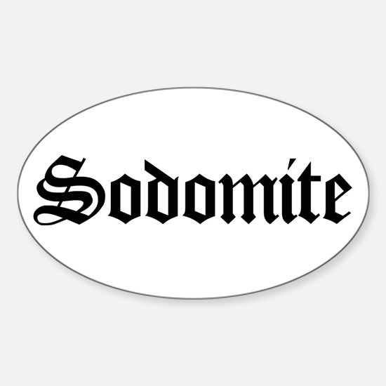 Sodomite Oval Decal