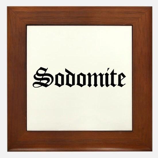 Sodomite Framed Tile