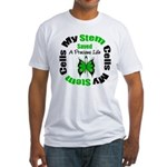 Stem Cells Saved Life Fitted T-Shirt