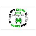 Stem Cells Saved Life Large Poster