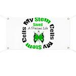 Stem Cells Saved Life Banner